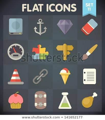 Jeweler flat icons set Stock photo © netkov1