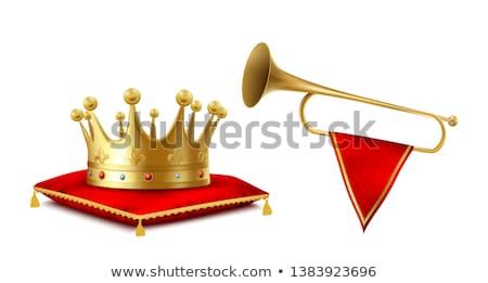 lint · vlag · trompet · vlaggen · muziekinstrumenten · gebruikt - stockfoto © konturvid