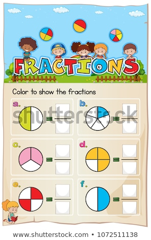 Mathematics Worksheet Fractions Chapter with Picture Stock photo © colematt