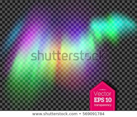 ストックフォト: Phenomenon Arctic Northern Aurora Light Vector