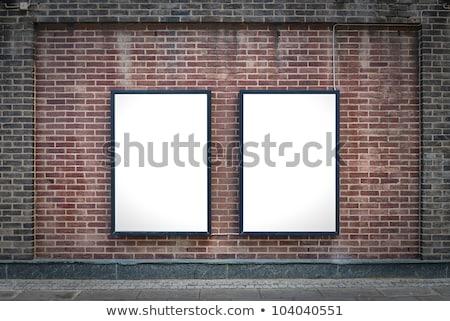 cartelloni · pubblicitari · pubblicità · segni · tridimensionale · prospettiva · orizzontale - foto d'archivio © magraphics