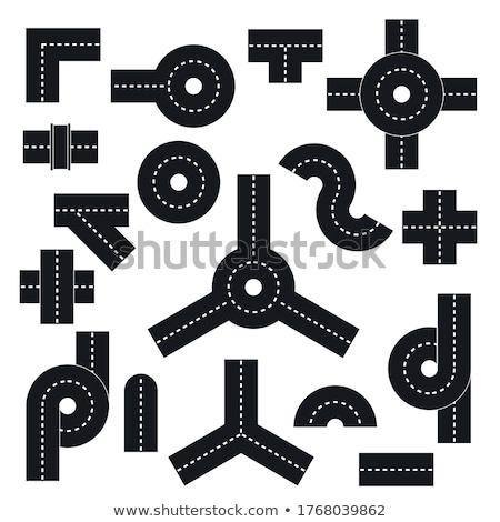 道路 ジャンクション 3次元の図 輸送 草 建設 ストックフォト © reticent