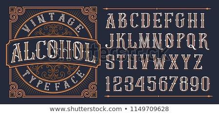 タイポグラフィ ヴィンテージ ロゴ ラベル カフェ 印刷 ストックフォト © FoxysGraphic