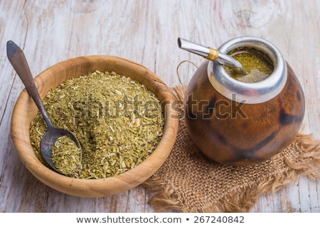 Yerba mate cup and straw Stock photo © grafvision