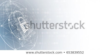 security and data protection, cloud and shield. cyber security, antivirus concept. Vector illustrati Stock photo © kyryloff