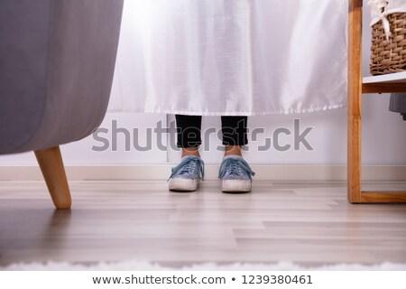 Lányok láb mögött függöny alacsony részleg Stock fotó © AndreyPopov