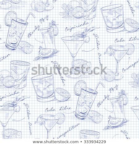 drinks menu on a notebook page stock photo © netkov1