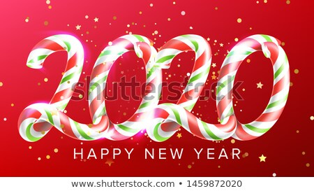 Candy In Form 2020 Happy New Year Banner Vector Stock photo © pikepicture