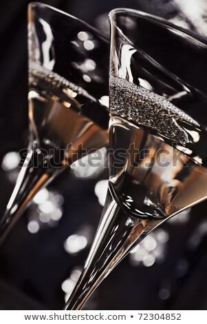 Kettő kozmopolita ital bár fekete terv Stock fotó © dla4