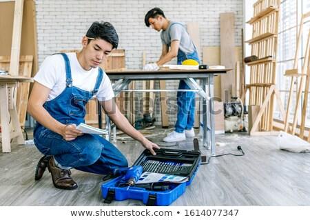 плотник преподавания подготовки ученик человека Сток-фото © Kzenon