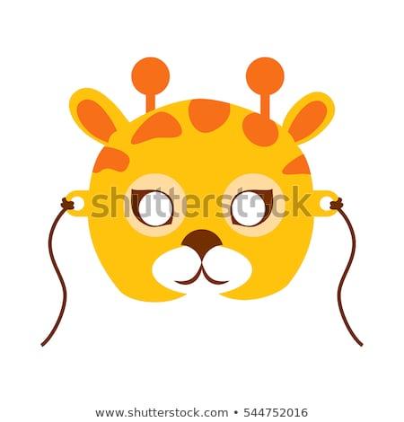 Girafe animaux carnaval masque puéril vecteur Photo stock © robuart