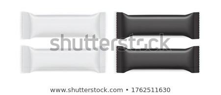 Csokoládé ostya fehér elöl kilátás izolált Stock fotó © magraphics