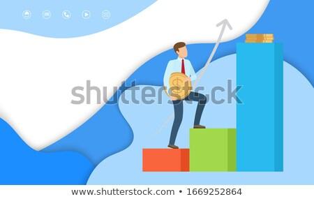 Winst web pagina monster zakenman Stockfoto © robuart