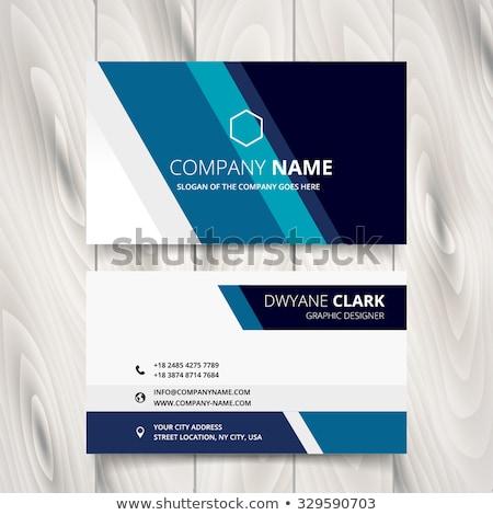 Stijlvol moderne Blauw visitekaartje ontwerpsjabloon kantoor Stockfoto © SArts