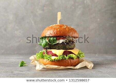 beet burger sandwich on a table Stock photo © nito