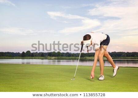 yeşil · delik · yüz · golf · spor - stok fotoğraf © lichtmeister