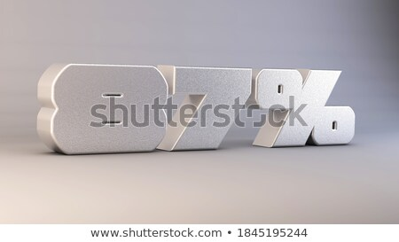 eighty seven percent on white background isolated 3d illustrati stock photo © iserg