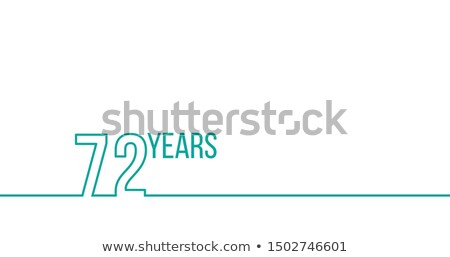 72 years anniversary or birthday. Linear outline graphics. Can be used for printing materials, brouc stock photo © kyryloff