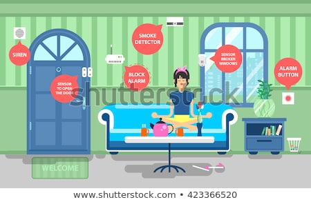 control block home security system vector illustration Stock photo © konturvid
