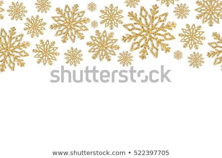 Blask złota płatki śniegu biały Zdjęcia stock © olehsvetiukha