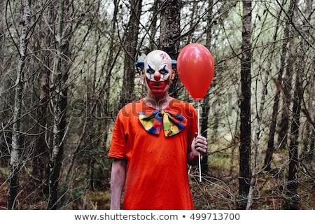Scary clown buitenshuis kleurrijk Geel Stockfoto © nito