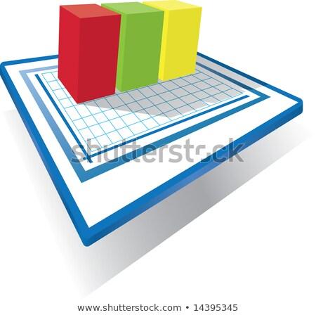 staafdiagram · grafieken · blokken · eenvoudige · ontwerp - stockfoto © robStock