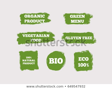 Naturale bio prodotto verde etichetta isolato Foto d'archivio © robuart