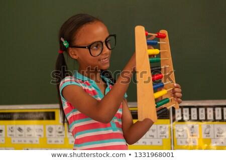 Görmek sevimli öğrenci öğrenme matematik Stok fotoğraf © wavebreak_media