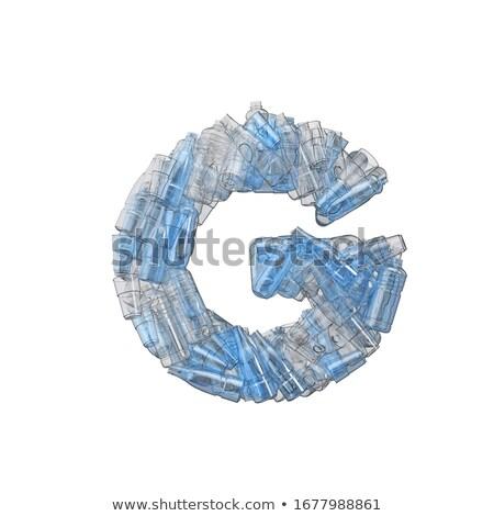 文字g プラスチック 廃棄物 ボトル 汚染 生態学 ストックフォト © lightkeeper