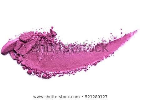 Eyeshadow palette and make-up brush on purple background, eye sh Stock photo © Anneleven