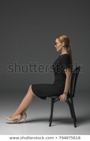 Yüksek görmek güzel işkadını oturma yan Stok fotoğraf © wavebreak_media