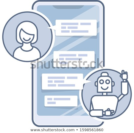 Chatbot helper - chatting with robot virtual assistant sending m Stock photo © gomixer