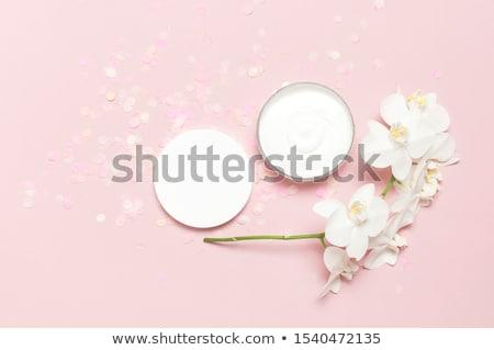 Luxus Gesichtscreme Feuchtigkeitscreme Haut rosa Blume kosmetischen Stock foto © Anneleven
