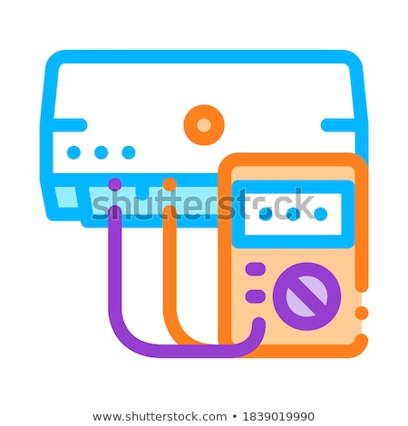 Diagnóstico condicionador vetor fino linha ícone Foto stock © pikepicture