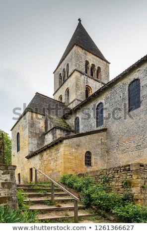The Romanesque church, Saint-Leon-sur-Vezere, France Stock photo © borisb17