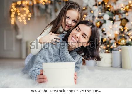 Feliz feminino modelo curto cabelo escuro pequeno Foto stock © vkstudio
