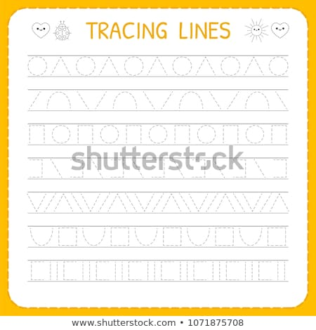 trace lines writting skills workbook for kids Stock photo © izakowski