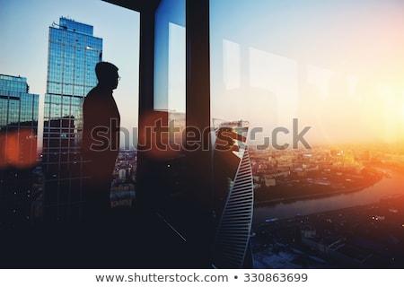 Jómódú férfi főnök elegáns luxus öltöny Stock fotó © vkstudio