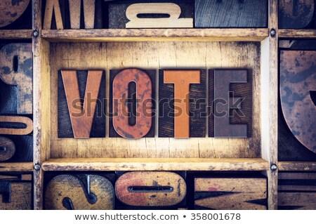 Głosowania vintage typu słowo Zdjęcia stock © enterlinedesign