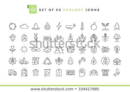 ecological industrial plant icon vector outline illustration Stock photo © pikepicture