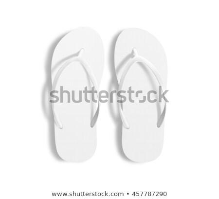 Pár papucs 3d illusztráció izolált fehér tenger Stock fotó © montego