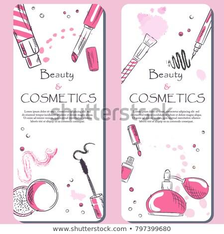 Proszek palety twarz kosmetyki makijaż zestaw Zdjęcia stock © pikepicture