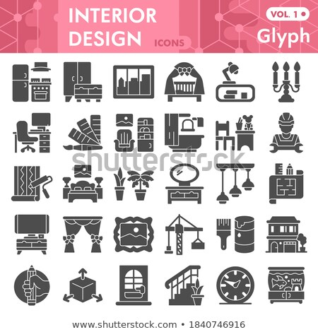 Furniture Solid Web Icons Stock photo © Anna_leni