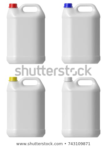 yellow and red plastic can on white Stock photo © inxti