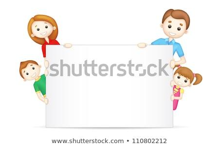 3d · persoon · gelukkig · gezin · moeder · vader · kinderen · vakantie - stockfoto © dacasdo