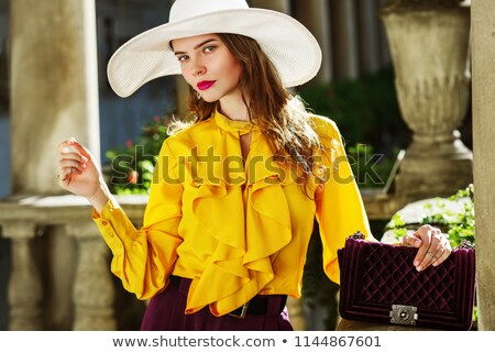 young girl in violet blouse stock photo © ruslanomega