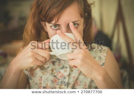 Nő obszcén kézmozdulat portré csinos fiatal Stock fotó © iofoto