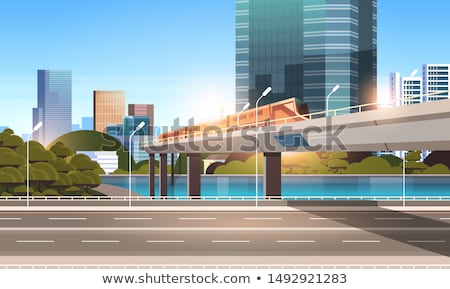 Monorail route ciel ville design train Photo stock © Paha_L