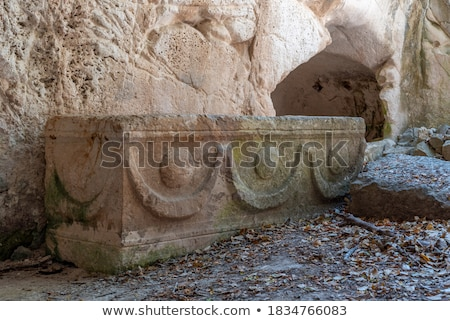 Stone Sarcophagi In Israel Stock photo © searagen