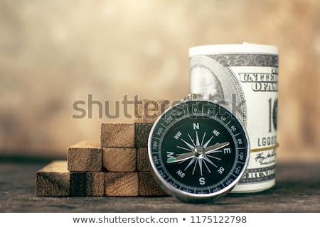 Brújula dólar símbolo sur dinero Foto stock © eyeidea